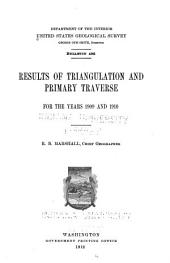 Results of Triangulation and Primary Traverse. 1901/01-1916/18: Issue 496