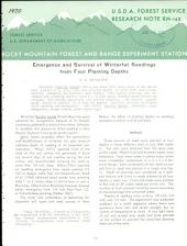 Emergence and survival of winterfat seedlings from four planting depths