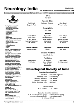 Neurology  India PDF