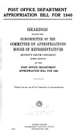 Further Additional Appropriation for Work Relief and Relief  Fiscal Year 1939 PDF