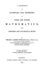 A collection of examples and problems of pure and mixed mathematics, with answers and occasional hints. Second edition