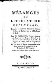 Mêlanges de littérature orientale,