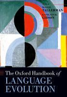 The Oxford Handbook of Language Evolution PDF