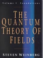 The Quantum Theory of Fields PDF