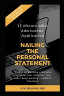 15 Minute MBA Admissions Application