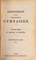 ZEITSCHRIFT FUE DIE OSTERREICHISCHEN GYMNASIEN PDF