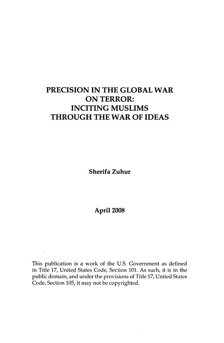 Precision in the Global War on Terror
