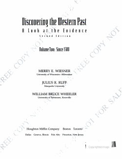 Discovering the Western Past  Since 1500 PDF