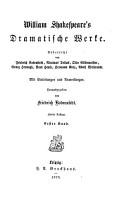 William Shakespeare s dramatische Werke  Ein Sommernachtstraum PDF