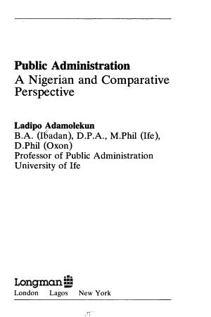 Public Administration PDF