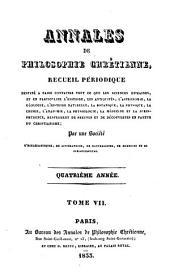 Annales de philosophie chrétienne: Volume7