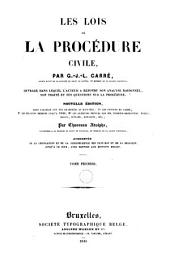 Les lois de la procédure civile: Volume1