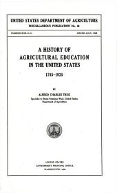 U.S. Department of Agriculture Miscellaneous Publication