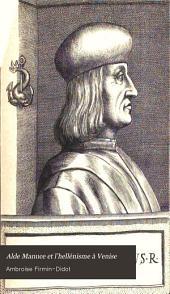 Alde Manuce et l'hellénisme à Venise