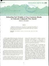 Estimating fuel weights of two common shrubs in Colorado lodgepole pine stands