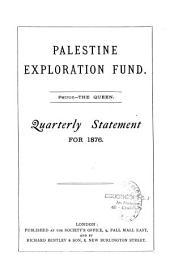 Palestine Exploration Fund: Quarterly Statement