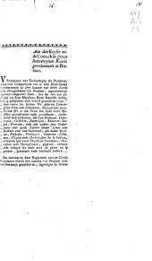 Verzoekschrift van de Staten van Brabant aan de keizer betreffende de tegenstrijdigheid van de op 3 november 1786 ingestelde civiele procedure met sommige artikelen van de Blyde Incomste