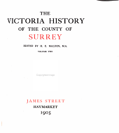 The Victoria History of the County of Surrey: Volume 2