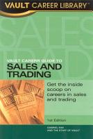 Vault Career Guide to Sales   Trading PDF