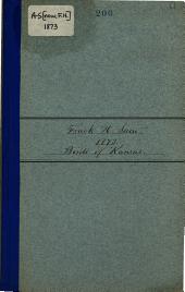 Catalogue of the Birds of Kansas