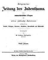 Allgemeine Zeitung des Judenthums PDF