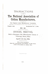 Transactions of the National Association of Cotton Manufacturers: Issue 90