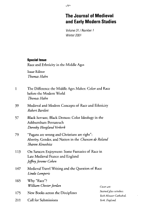 The journal of medieval and early modern studies