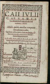 Caii Ivlii Caesaris commentariorum libri VIII