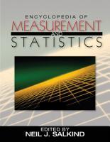 Encyclopedia of Measurement and Statistics PDF