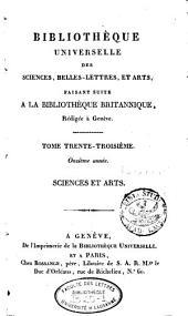 Bibliothèque universelle des sciences, belles-lettres et arts: Volume33
