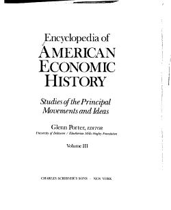 Encyclopedia of American Economic History PDF