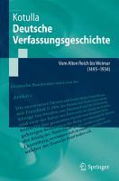 Deutsche Verfassungsgeschichte PDF