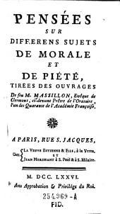 Pensées sur differens sujets de morale et de piété