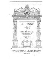 Corinne Or Italy: Volume 1