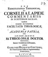 De Cornelii A Lapide Commentariis In Scripturam Sacram