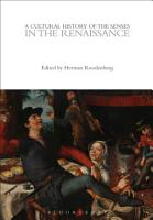 A Cultural History of the Senses in the Renaissance PDF