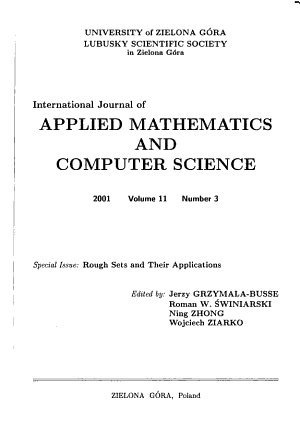 International Journal of Applied Mathematics and Computer Science PDF