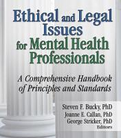 Ethical and Legal Issues for Mental Health Professionals PDF