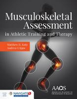 Musculoskeletal Assessment in Athletic Training and Therapy PDF