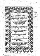 The Christian Against the Jesuite. Wherein the Secrete Writer [R. Parsons] of a Pernitious Booke Intituled A Discoverie of J. Nicols, Minister, Etc. ... is Not Only Justly Reproved: But Also a Booke ... Called A Persuasion from Papistrie, Therein Derided ... is Defended by T. Lupton the Authour Thereof, Etc. B.L.
