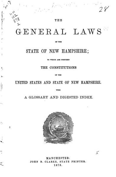 Download The General Laws of the State of New Hampshire Book
