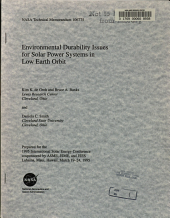 Environmental Durability Issues for Solar Power Systems in Low Earth Orbit PDF