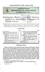 Partitioning Method of Genetic Analysis Applied to Quantitative Characters of Tomato Crosses