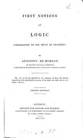 First notions of logic, preparatory to the study of geometry