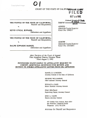 California. Supreme Court. Records and Briefs: S028767, Other