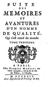 Mémoires et avantures d'un homme de qualité qui s'est retiré du monde: Volumes3à4