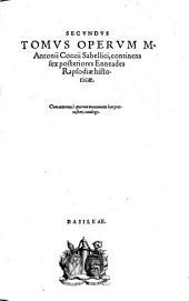 Sex posteriores enneades rapsodiæ historicæ [