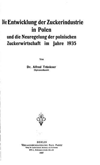 Berichte   ber Landwirtschaft PDF