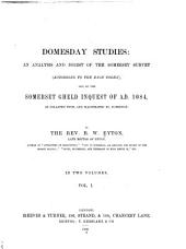 Domesday Studies: Analysis and digest