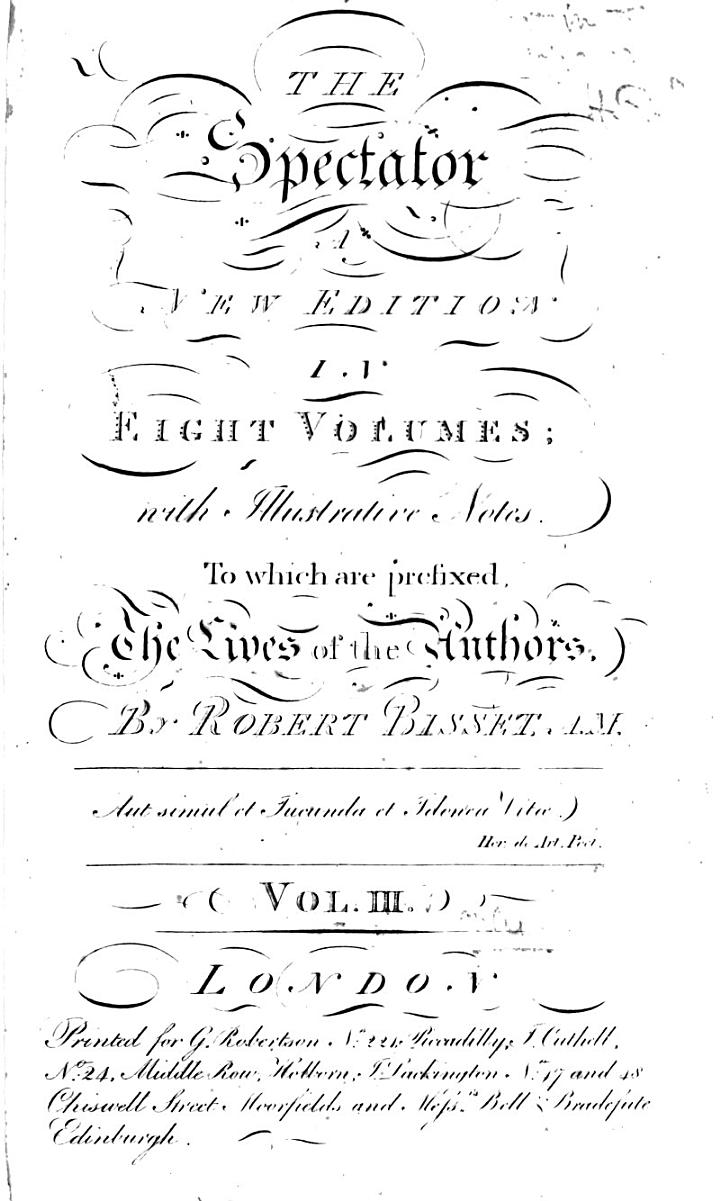 The Spectator, with Illustrative Notes